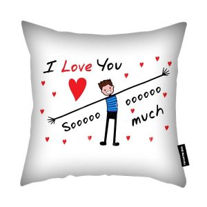 I Love You So Much - Valentines Day Cushion