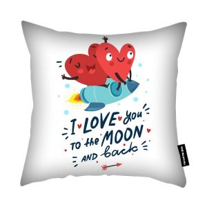 Love to the Moon - Valentines Day Cushion
