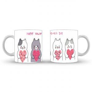 Funny Cat Heart - Valentines Day Mug