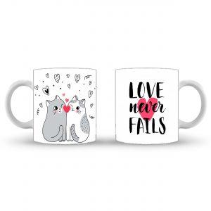 Love Never Fails - Valentines Day Mug