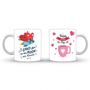 Love to the Moon – Valentines Day Mug