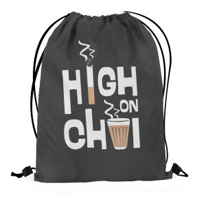 High on Chai – Drawstring Bag